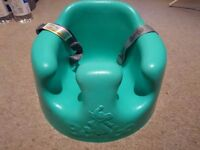 Brand new Bumbo seat for baby with adjustable straps - Green