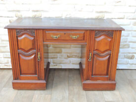 Unique Henry Barker Wooden Desk with leather top (Delivery)