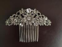 Vintage style crystal rhinestone hair comb
