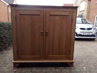 Genuine Antique Pine Cabinet, great condition, 8 internal draws and 4 shelves