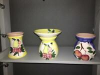 3 melt warmers with removable top