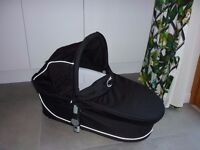 Icandy apple carrycot black and rain cover - VGC