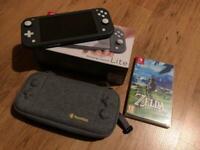 Nintendo Switch Lite + Zelda BOTW + 200GB card