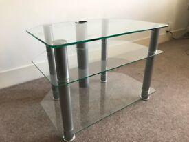 Glass & Chrome TV Stand