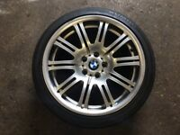Genuine BMW E46 M3 19 inch Rear Alloy Wheel 9.5x19 5x120 Excellent Kumho Ecsta LE Sport Tyre
