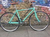 BRAND NEW VINTAGE FIXED GEAR BIKE SINGLE SPEED FREE FIXIE ROAD BIKE HYBRID BIKE -9KG –BIANCHI