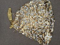 Gold sequinned dancing dress