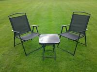 Small Patio coffee table and chair set