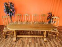 Nr.1274 Esszimmer Esstisch mit 6 Stühlen Eiche hell vollmassiv Rheinland-Pfalz - Wiesbaum Vorschau