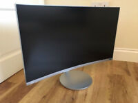 27in Curved Samsung Monitor 1080p LED HDMI Built-in Speakers