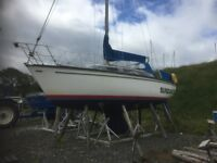 Yacht fitted with a beta engine 77 hours & mooring available
