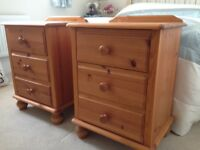 Good solid pine bedside cabinets very good condition