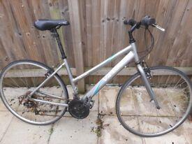 Grey women's road bike