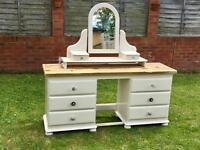 Solid pine handpainted dressing table