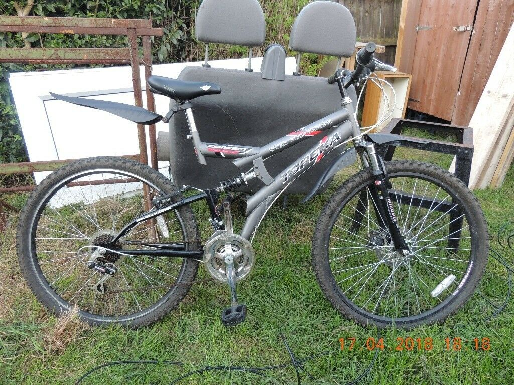 bike with front Disk brake good tyres ready to use