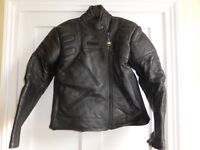 Ladies motorbike leathers, size 10. Excellent condition, jacket and trousers, hardly used