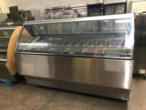 83 Beautiful gelato ice cream  display  stainless steal finish
