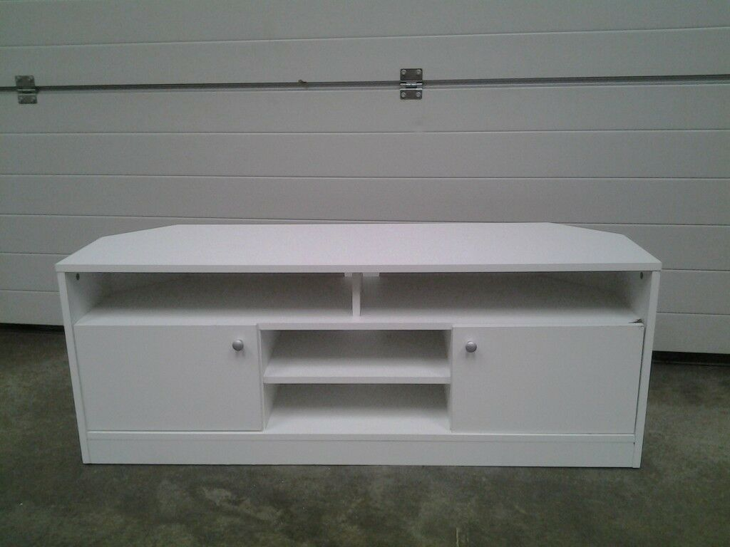Ex Display White Corner Tv Unit Cabinet Bargain Can Deliver