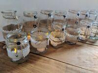 30 Decorative Glass Jars + 12 Tealights