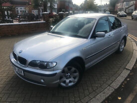 2003 (53) BMW 3 SERIES 318I PETROL AUTOMATIC SALOON SILVER FULL BLACK LEATHER 6 MONTHS WARRANTY
