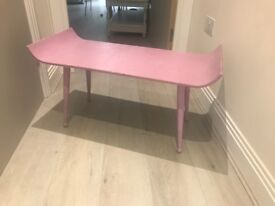 Purple shabby chic coffee table