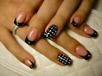 put gel nails and tips