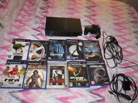 SONY PS2 SCPH-39003 CONSOLE BUNDLE,10 GAMES,CONTROLLER