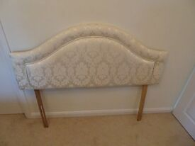 Ivory headboard for double bed.