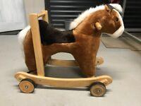 Push along rocking horse