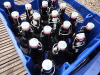 Empty Flip up Style Beer bottles for brewing