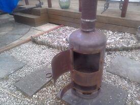 Patio or workshop log burner