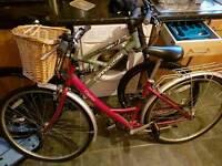 Ladies Raleigh bike with basket