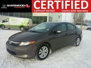 2012 Honda Civic LX| BT| AUX/USB| AC| REMOTE ENTRY
