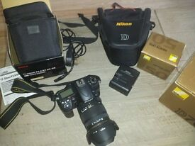 Professional DSLR Nikon D7000 full HD movies including 2 lenses, box, etc. digital camera