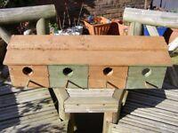 Beautiful Sparrow Row - Handmade Birdhouse