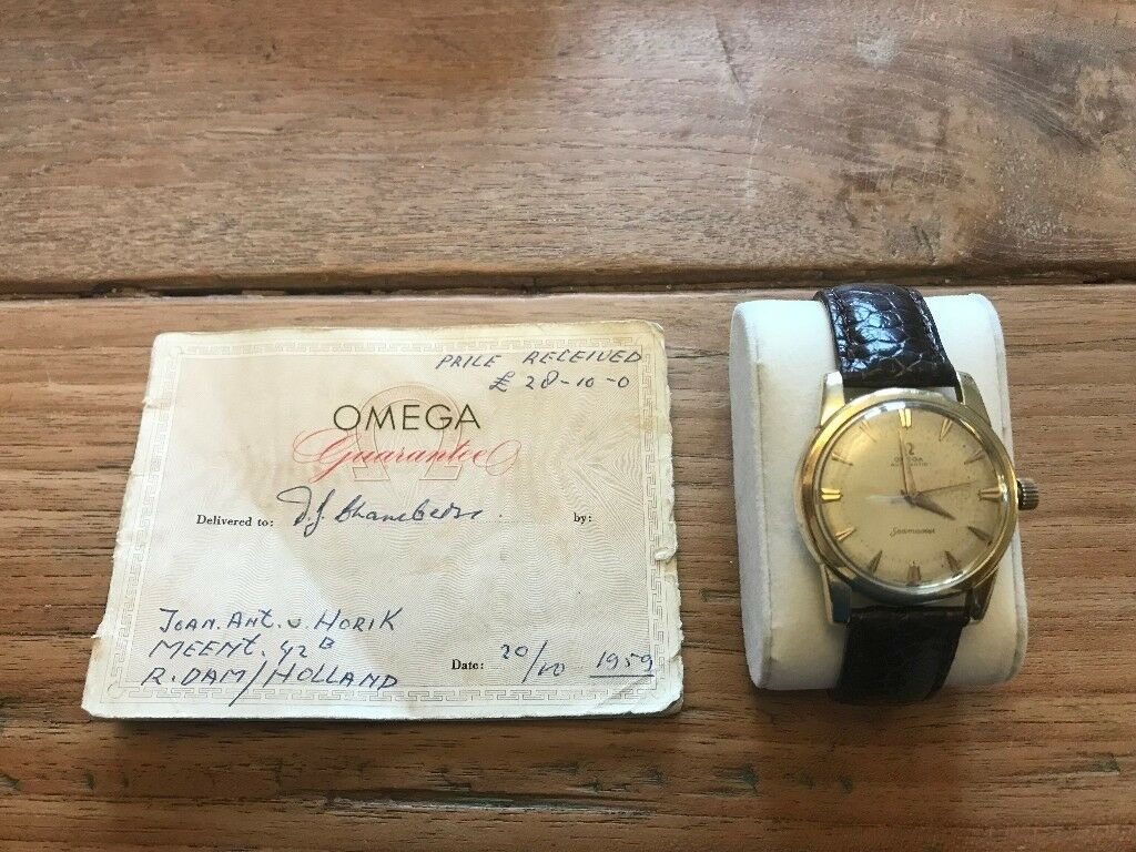 1959 Gold capped Omega Seamaster with original paperwork