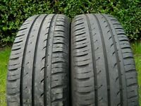 2 off 185 x 65 x 15 Continental Tyres