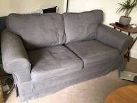 2xtwo seater grey sofas. Both for *£150*!Great condition Full price £590 for both in IKEA