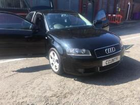 06 AUDI A3 ,2.0 Tdi , 3 dr, SPORT,1 Owner,Service History, Choice of 2
