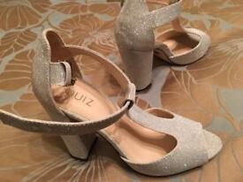 Size 4 silver heels