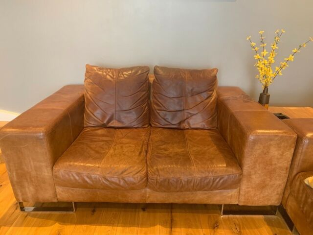 Pleasing Distressed Brown Leather Sofas In Glenrothes Fife Gumtree Pdpeps Interior Chair Design Pdpepsorg