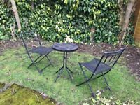 Free - garden table & 2 folding chairs set