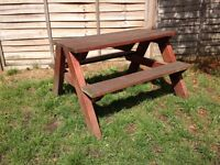 Children's picnic table hand-made by local carpenter