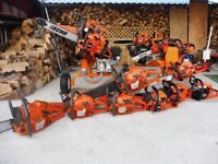 NEW AND USED ECHO CHAINSAWS THE HUSQVARNA SAWS ARE ALL USED