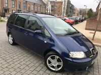 Seat Alhambra 2.0 TDI Stylance 7 Seaters,2006,6 speed,Full service,2 owners,hpi clear,2 keys