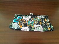 Embroidered multi coloured evening bag