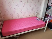 Kids full size single bed with mattress