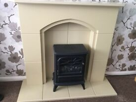 Electric fire and hearth