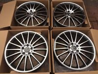 "4 x NEW 19"" MERCEDES C63 STAGGERED ALLOY WHEELS 5x112 5 112 POLISHED MERCEDES W203 W204 C CLASS"