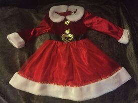 Mrs Clause Dress 1-2 years